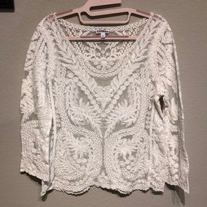 Sheer detailed Express blouse
